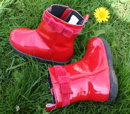 Little Red Rain Boots by Lily White.