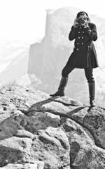 Half Dome and the Better Half (Thomas Hawk) Tags: blackandwhite bw woman beautiful beauty leather blackwhite pretty julia boots 10 meta spouse fav20 yosemite halfdome wife fav30 glacierpoint juliapeterson fav10 leatherboots fav25 fav40 superfave mrsth gettyartistpicksoct09