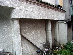 スナックつかさの側壁。