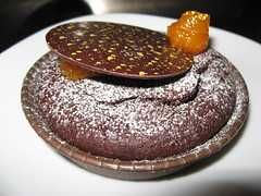 Bouchon Bakery: Flourless chocolate cake (close up)