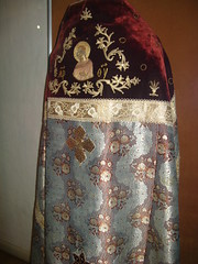 Another Robe (nohobot) Tags: old cruise vacation religious gold clothing ancient russia robe embroidery religion velvet monastery priest christianity ornate vestments goldthread orthodoxy orthodoxchurch russianorthodoxchurch   vologda kirillov russianorthodoxy goritsy  kirillobelozerskymonastery   russiatrip2008   vologdaoblast