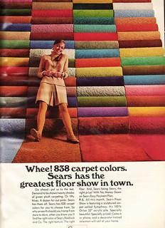 Vintage Sears Carpet Magazine Ad