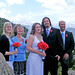 Left to Right: Trisha (sister of the groom) Bingham, Mark (father of the groom) Bingham, Kim, Chris, and Cathy (mother of the groom) Bingham