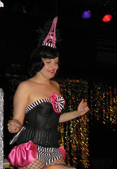 Parisian Gogo (sunnybuick) Tags: eiffeltower cancan burlesque parisian titi pinkandblack tattooedladies