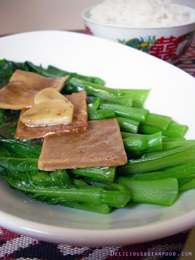 Choy Sum with Sweet Tau Kee
