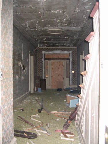 More debris from vandalism inside
