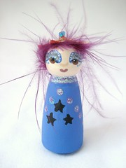 Maris the Tiny Stardust Fairy Doll full (DawnAliceRogers) Tags: wood flowers blue flower cute art wool girl glitter hair toy star evening bottle doll child purple display handmade sister oneofakind ooak painted magic small feathers dream plum naturallight felt elf fairy fantasy faery figure etsy artdoll dust artforsale tulle stardust whimsical dollhouse originaloneofakind artdollelf