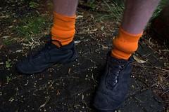 Hairy legs & orange socks (My name's axel) Tags: street boy hairy orange color feet boys rain socks cyclists nikon sock shoes belgium legs earth colorfull candid surreal trainers seeds soil utata antwerp unusual lime ontheroad d40 tweeduizend liezele puurs nikond40 utata:project=tw118 limetreeseeds