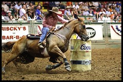 Barrel racing Fort Worth Stockyards (Bettina Woolbright) Tags: horse cowboy texas cattle rodeo cowgirl ftworth livestock fortworth bettina barrelracing stockyard canon85mm woolbright fortworthstockyard ftworthstockyard bettinawoolbright woolbr8stl bettinawoolbrightcom
