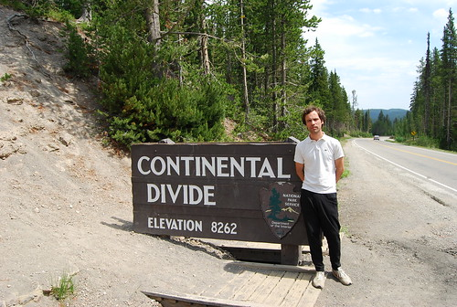 nicolás boullosa, in the 'continental divide' (yellowstone park)