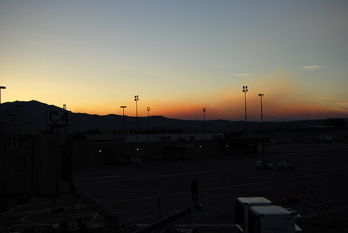 330-Reno Airport Sunset Smoke