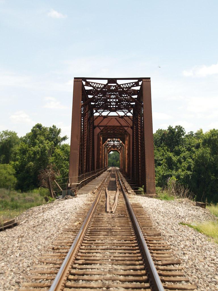 Richmond Texas Small Old Town Square Train Bridge  2008 P7295460