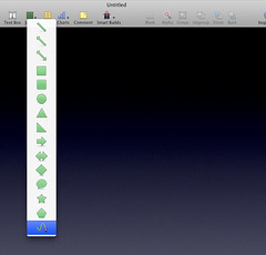 Curved Lines in Apple Keynote 2008: Step 1