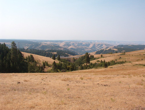 View South to I84 from atop US30 at Deadman's pass
