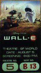 WALL-E Ticket