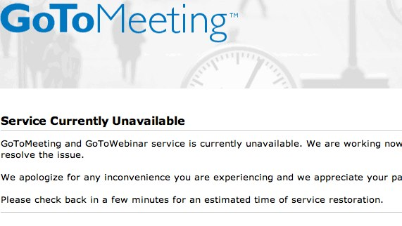 GoToMeeting Goes Down