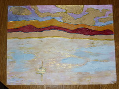 finished painting of Lake Champlain