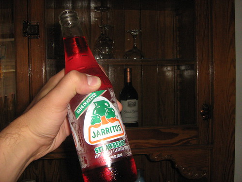 Strawberry Jarritos...and grape juice...