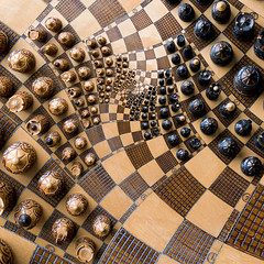 The Infinite Combat (Philipp Klinger Photography) Tags: white black board chess optical illusion combat escher philipp infinite droste klinger aplusphoto platinumheartawards dcdead lesamisdupetitprince