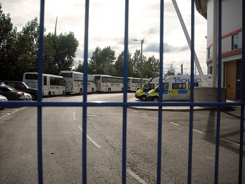 football gate stadium soccer police safety fans madjeski readingvplymouth