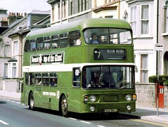 095-17 Western National 1024 in Plymouth (Sou'wester) Tags: bus buses nbc plymouth devon alexander publictransport leafgreen leyland psv 1024 westernnational atlantean nationalbuscompany westernwelsh vuh381j