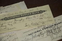 Old checks (breenzanemom) Tags: old indiana checks prophetstown