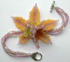 Indian Summer (fivefootfury) Tags: autumn flower fall glass leaf bracelet beaded indiansummer beadwork sterlingsilver burple