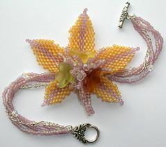 Indian Summer (fivefootfury) Tags: autumn flower fall glass leaf bracelet beaded indiansummer beadwork sterlingsilver burple