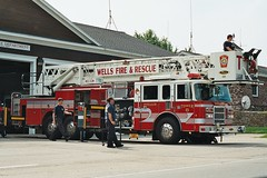 MAINTAINING TOWER 5 (MIKECNY) Tags: fire maine wells firetruck ladder firehouse