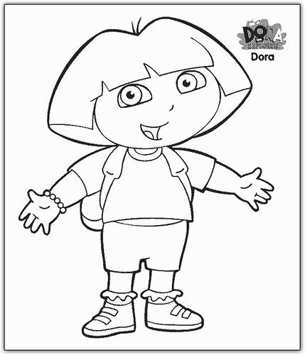 ... encontrar dibujos para colorear de Dora la Exploradora , gratis