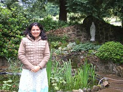 Angelica beside Grotto - Kinnoull (Queenbie) Tags: friends catholic perth ourlady redemptorist kinoull