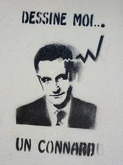 Dessine-moi un connard (Stfan) Tags: streetart france wall painting geotagged graffiti drawing tag dessin peinture rue mur sarkozy nantes nicolassarkozy connard sarkoland geo:lat=47215402 geo:lon=1546357