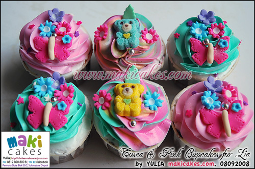 Tosca & Pink Cupcakes for Lia_ - Maki Cakes