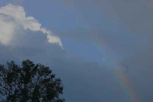 Rainbow + Moon