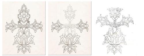 tattoo design progression