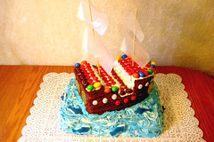 Pirate Cake (CourtneysConfections11) Tags: mms pirate bluewaves 5thbirthdaycake
