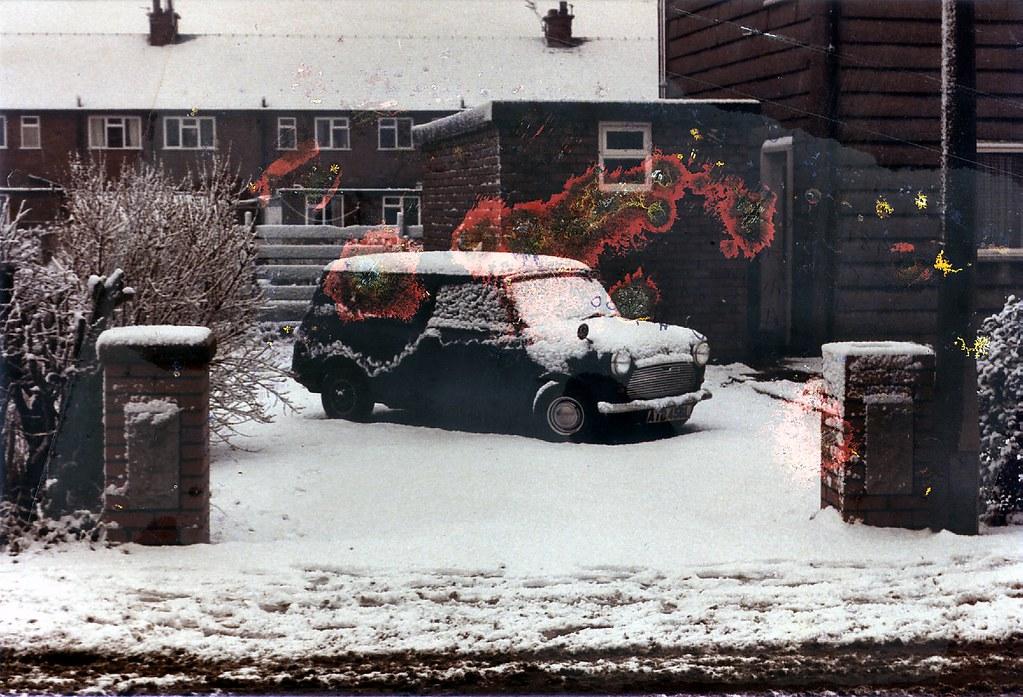 Dad's Mini van. January '85