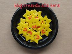 bottoni stella (artins) Tags: fimo giallo bottoni