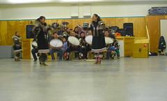 Traditional dancers, Aklavik, McKenzie Delta, NWT (Ballygrant Boy) Tags: music canada river dancers delta olympus arctic aboriginal northern drummers mckenzie inuvialuit aklavik