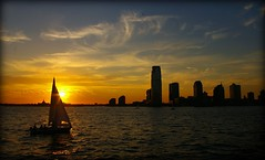 A new beginning (Lazyousuf) Tags: nyc sunset jerseycity financialdistrict batterypark hudsonriver explored explore87 vosplusbellesphotos