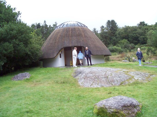 Ireland  - rest area in beehive thatched roof hut