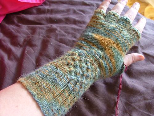 Fingerless Gloves WIP
