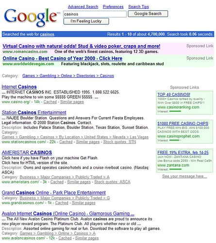 Google 2001 Results