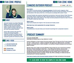 Canucks Outsider podcast on Canucks.com Fanzone