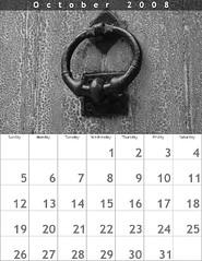 Calendar 2008: October