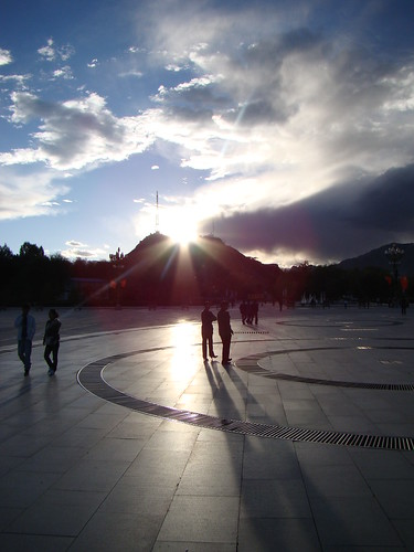 Sunset in Potala Square