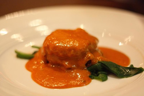 Crab cake with Korma emulsion