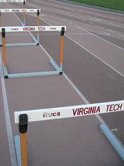 Hurdles (Volleyhart) Tags: sunset blueridge blacksburgva southwestva duskcolors vttrackandfield