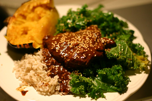 Mole Chicken dinner