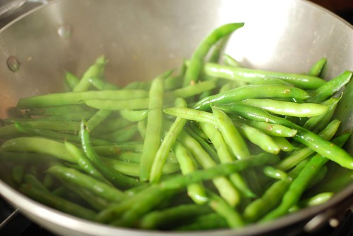 Pepper green beans with sage and parmigiano reggiano